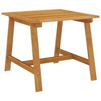 vidaXL Table à dîner de jardin 88x88x74 cm Bois d'acacia massif