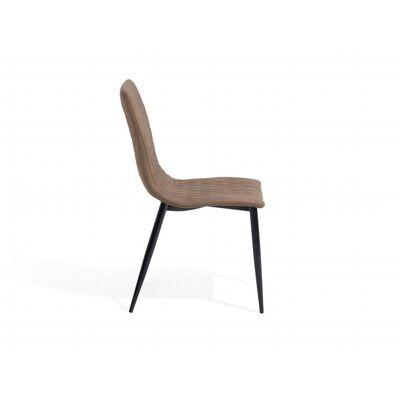 Lot de 2 chaises en simili-cuir marron clair MONTANA