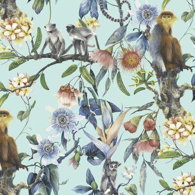 Noordwand Papier peint Exotic Monkeys Turquoise