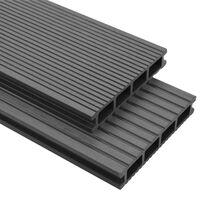 vidaXL Panneaux de terrasse avec accessoires WPC 36 m² 2,2 m Gris