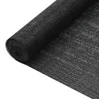 vidaXL Filet brise-vue Noir 2x50 m PEHD 150 g/m²