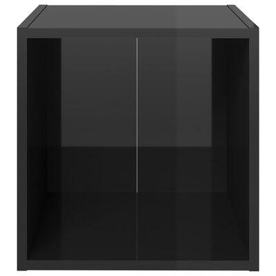 vidaXL Ensemble de meubles TV 3 pcs Noir brillant Aggloméré