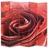 vidaXL Cloison de séparation pliable 200 x 170 cm Rouge rose