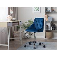 Chaise À Roulettes En Velours Bleu Parrish
