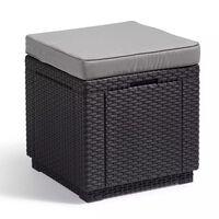 Allibert Pouf de rangement Cube Graphite 213785
