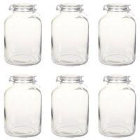 vidaXL Pots à confiture en verre avec serrure 6 pcs 5 L