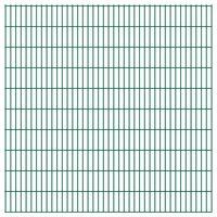 vidaXL Panneaux de clôture de jardin 2D 2,008x2,03 m 46 m total Vert