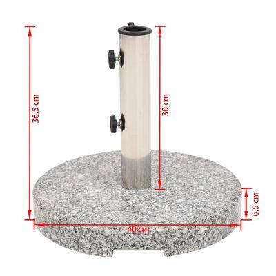 vidaXL Socle de parasol Granite Rond 20 kg