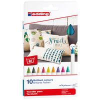 edding Feutres à textile 10 pcs Multicolore 4600