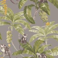 DUTCH WALLCOVERINGS Papier peint Monkey Puzzle Gris