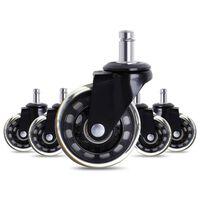 5 roues de roulettes de chaise de bureau noires avec roulettes