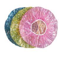 Bonnets de douche en plastique jetables en PE transparent - grand
