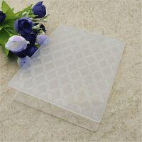 Chemises de gaufrage en plastique diamant pour scrapbooking papier