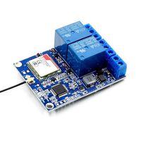 Module de relais de canal 2 pièces avec antenne gsm -