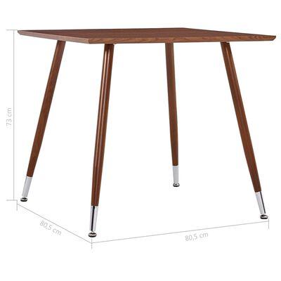 vidaXL Table de salle à manger Marron 80,5x80,5x73 cm MDF