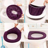Couverture de toilette douce chaude siège couvercle coussin salle de