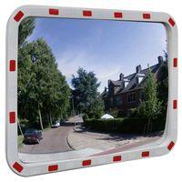 vidaXL Miroir de trafic convexe rectangulaire 60x80cm et réflecteurs