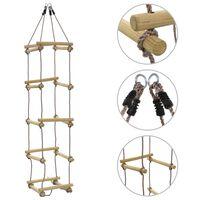 vidaXL Échelle de corde pour enfants 200 cm Bois