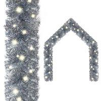 vidaXL Guirlande de Noël avec lumières LED 10 m Argenté