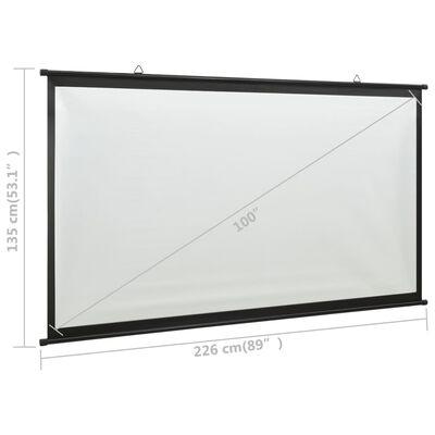 """vidaXL Écran de projection 100"""" 16:9"""
