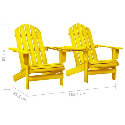 vidaXL Chaise de jardin Adirondack Bois de sapin massif Jaune