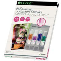 Leitz Pochette de plastification perforée 125 Microns A4 100 pcs