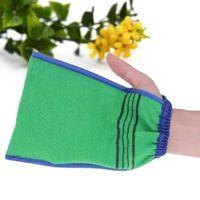 1 gant de bain avec épurateur à deux faces pour le nettoyage du