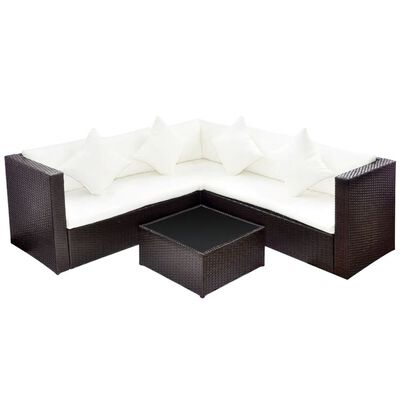 This stylish yet highly comfortable rattan sofa set will be an eye-catcher in your garden or on the patio.